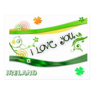 Te amo Irlanda Tarjeta Postal