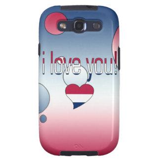 ¡Te amo! La bandera de América colorea arte pop Galaxy S3 Carcasas