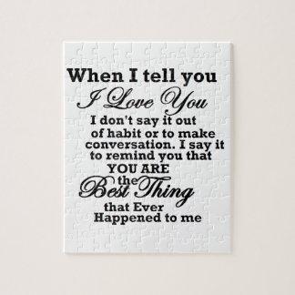 ¡Te amo, la mejor cosa nunca! Puzzle Con Fotos