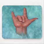 Te amo: Lenguaje de signos americano: Mano Alfombrillas De Ratones