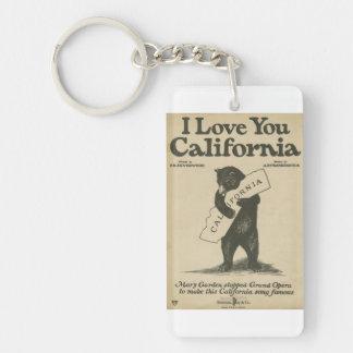 Te amo llavero de California