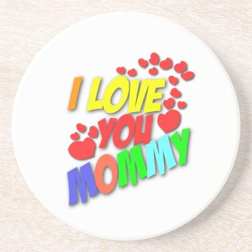 Te amo llavero de la mamá posavasos personalizados