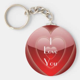 Te amo llavero de la tarjeta del día de San Valent