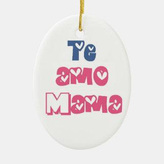 Te Amo Mama Ceramic Ornament