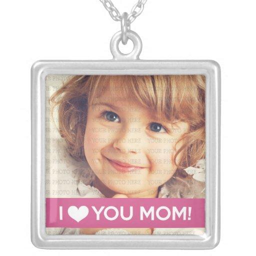 Te amo mamá - foto de encargo colgante personalizado