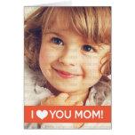 Te amo mamá - foto de encargo felicitacion