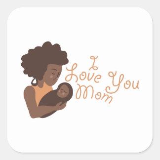 Te amo mamá colcomanias cuadradases