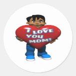 Te amo mamá pegatinas redondas