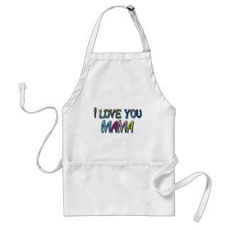 Te amo mamá Shirts Delantal