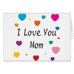 Te amo, mamá tarjeta de felicitación