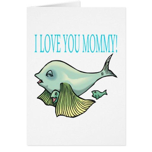 Te amo mamá tarjeta de felicitación
