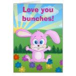 Te amo manojos - tarjeta del conejito de Huggy
