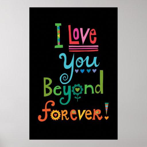 Te amo más allá del negro del Forever Poster