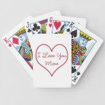 Te amo más barajas de cartas