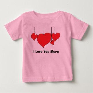Te amo más camiseta del bebé