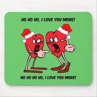 Te amo más navidad tapete de ratones