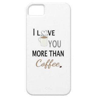 Te amo más que el café iPhone 5 Case-Mate protectores