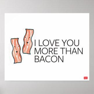 Te amo más que el tocino póster