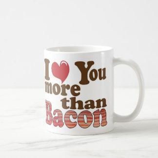 Te amo más que el tocino tazas de café