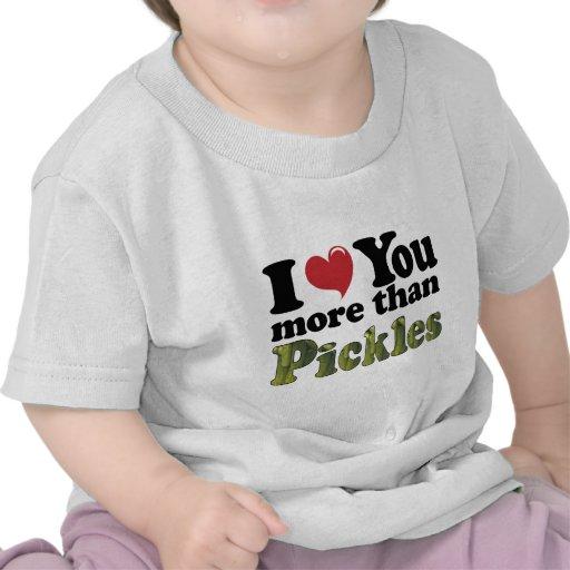 Te amo más que las salmueras camiseta