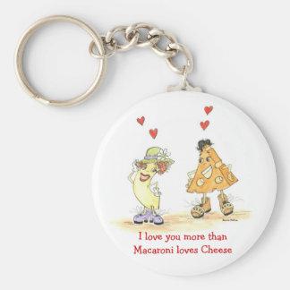 Te amo más que los macarrones ama llavero de los c