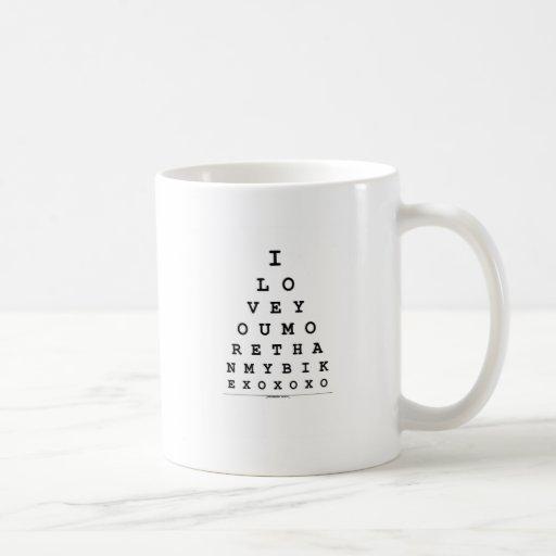 Te amo más que mi bici taza de café