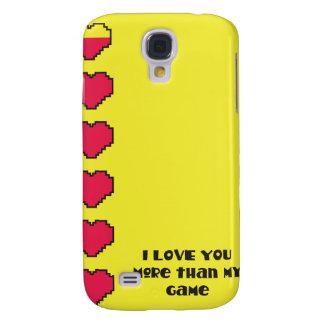 Te amo más que mis corazones digitales del juego funda para galaxy s4