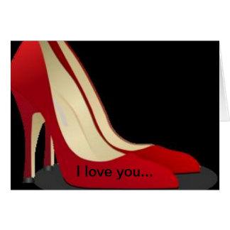 """""""Te amo más que tarjeta de mis zapatos"""""""