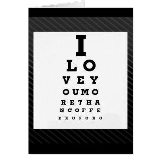 Te amo más que tarjeta del día de San Valentín del