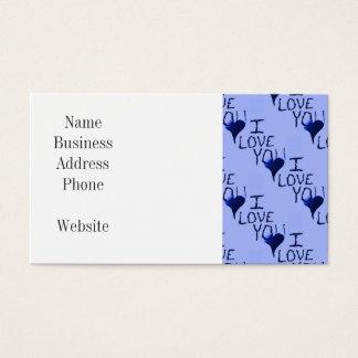Te amo modelo dibujado mano linda del azul del tarjetas de visita