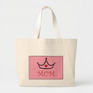 Te amo momia bolsa de tela grande