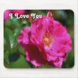 Te amo Mousepad color de rosa rosado Tapetes De Ratón