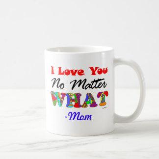 """""""Te amo no importa qué"""" de la taza de la mamá"""