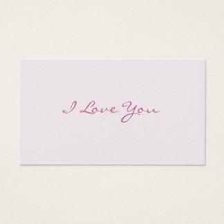 Te amo notas del amor tarjetas de visita