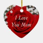 Te amo ornamento de la mamá adorno