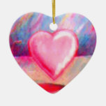 Te amo ornamento del corazón ornamentos de navidad