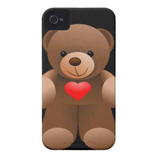 Te amo oso de peluche iPhone 4 carcasa