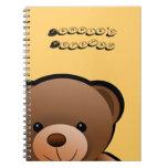 Te amo oso de peluche libreta