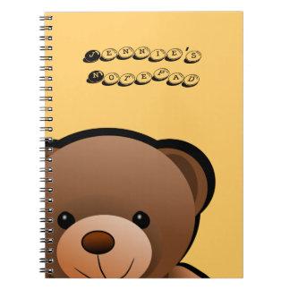 Te amo oso de peluche libretas espirales