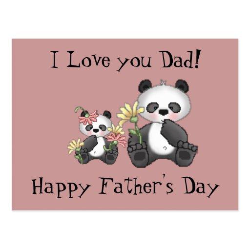 ¡Te amo papá! El día de padre feliz Postales