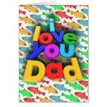 Te amo papá felicitación