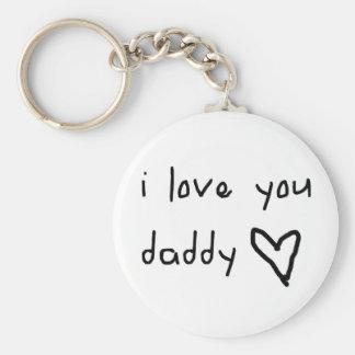 Te amo papá llaveros