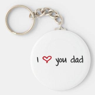 Te amo, papá llavero redondo tipo pin