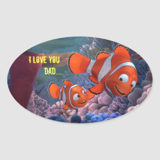 Te amo papá…. pegatina ovalada