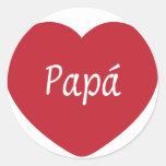 Te amo, papá pegatina redonda