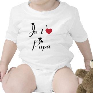 Te amo papá camiseta