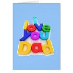 Te amo papá - tarjeta