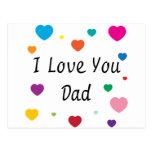 Te amo, papá tarjeta postal