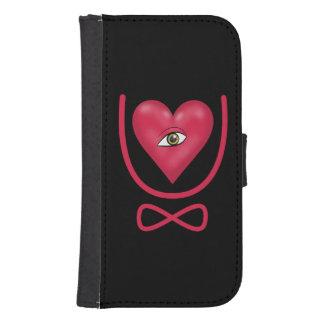 Te amo para siempre eternidad del corazón U del Fundas Tipo Billetera Para Galaxy S4