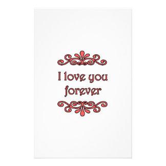 Te amo para siempre papeleria personalizada